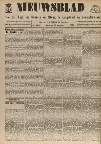 Nieuwsblad het land van Heusden en Altena de Langstraat en de Bommelerwaard 1915-08-21