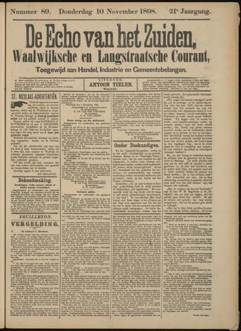 Echo van het Zuiden 1898-11-10