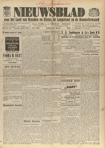 Nieuwsblad het land van Heusden en Altena de Langstraat en de Bommelerwaard 1941-03-21