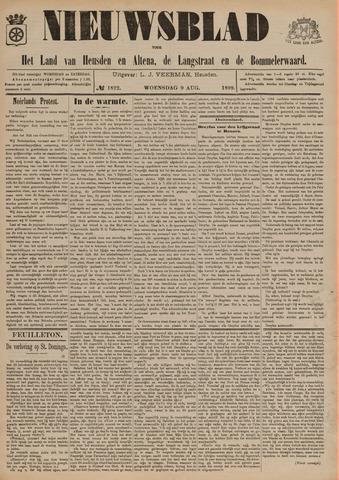 Nieuwsblad het land van Heusden en Altena de Langstraat en de Bommelerwaard 1899-08-09