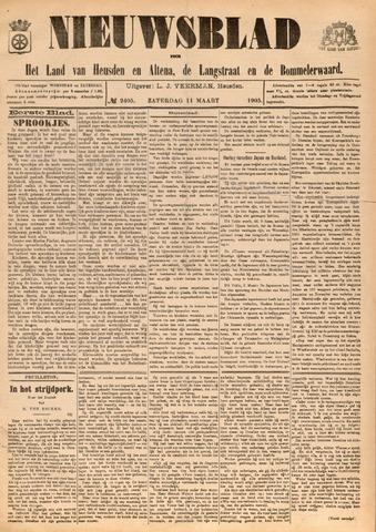 Nieuwsblad het land van Heusden en Altena de Langstraat en de Bommelerwaard 1905-03-11