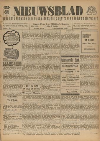 Nieuwsblad het land van Heusden en Altena de Langstraat en de Bommelerwaard 1922-10-06