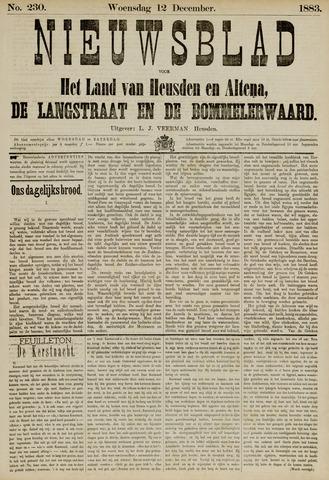 Nieuwsblad het land van Heusden en Altena de Langstraat en de Bommelerwaard 1883-12-12