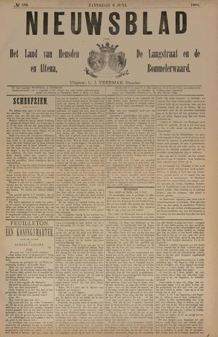 Nieuwsblad het land van Heusden en Altena de Langstraat en de Bommelerwaard 1888-06-09