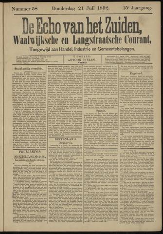 Echo van het Zuiden 1892-07-21