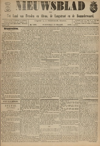 Nieuwsblad het land van Heusden en Altena de Langstraat en de Bommelerwaard 1895-03-13