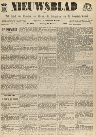 Nieuwsblad het land van Heusden en Altena de Langstraat en de Bommelerwaard 1915-01-16