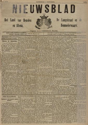 Nieuwsblad het land van Heusden en Altena de Langstraat en de Bommelerwaard 1891-10-03