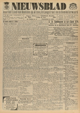 Nieuwsblad het land van Heusden en Altena de Langstraat en de Bommelerwaard 1930-06-27