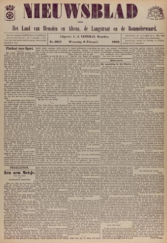 Nieuwsblad het land van Heusden en Altena de Langstraat en de Bommelerwaard 1910-02-09