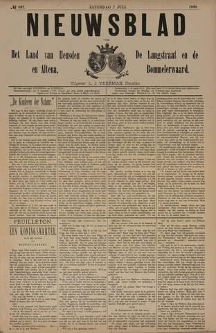 Nieuwsblad het land van Heusden en Altena de Langstraat en de Bommelerwaard 1888-07-07