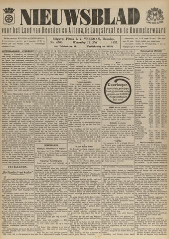 Nieuwsblad het land van Heusden en Altena de Langstraat en de Bommelerwaard 1925-05-13