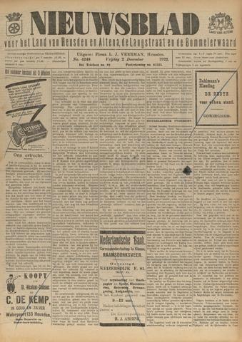 Nieuwsblad het land van Heusden en Altena de Langstraat en de Bommelerwaard 1922-12-02