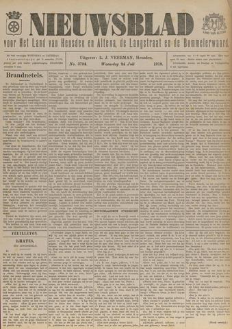 Nieuwsblad het land van Heusden en Altena de Langstraat en de Bommelerwaard 1918-07-24