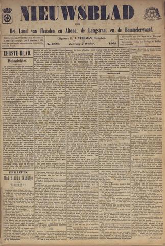 Nieuwsblad het land van Heusden en Altena de Langstraat en de Bommelerwaard 1909-10-02