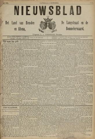 Nieuwsblad het land van Heusden en Altena de Langstraat en de Bommelerwaard 1890-10-04
