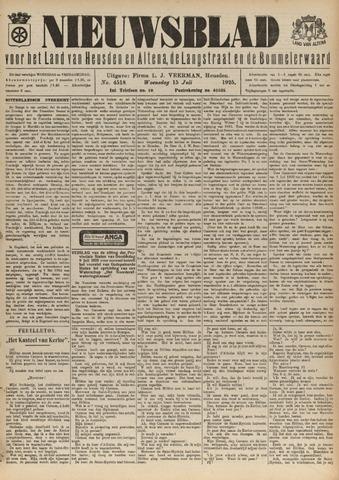 Nieuwsblad het land van Heusden en Altena de Langstraat en de Bommelerwaard 1925-07-15