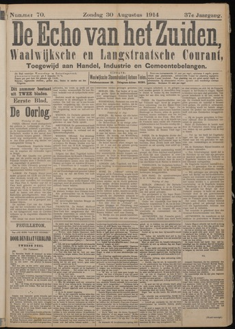 Echo van het Zuiden 1914-08-30