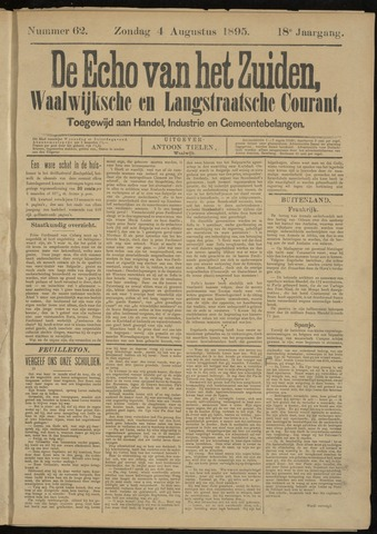 Echo van het Zuiden 1895-08-04