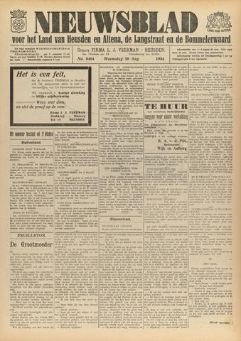Nieuwsblad het land van Heusden en Altena de Langstraat en de Bommelerwaard 1934-08-29