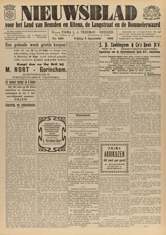 Nieuwsblad het land van Heusden en Altena de Langstraat en de Bommelerwaard 1932-09-09