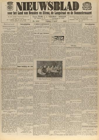 Nieuwsblad het land van Heusden en Altena de Langstraat en de Bommelerwaard 1943-04-02