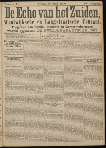 Echo van het Zuiden 1906-06-10