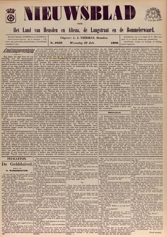 Nieuwsblad het land van Heusden en Altena de Langstraat en de Bommelerwaard 1909-07-21