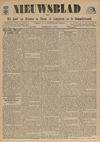 Nieuwsblad het land van Heusden en Altena de Langstraat en de Bommelerwaard 1904-09-03