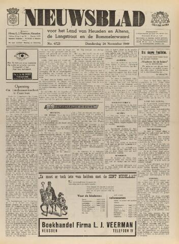 Nieuwsblad het land van Heusden en Altena de Langstraat en de Bommelerwaard 1949-11-24