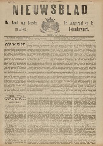 Nieuwsblad het land van Heusden en Altena de Langstraat en de Bommelerwaard 1888-12-22