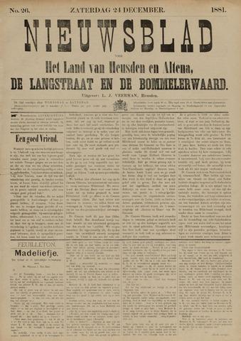 Nieuwsblad het land van Heusden en Altena de Langstraat en de Bommelerwaard 1881-12-24