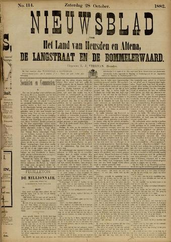 Nieuwsblad het land van Heusden en Altena de Langstraat en de Bommelerwaard 1882-10-28