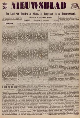 Nieuwsblad het land van Heusden en Altena de Langstraat en de Bommelerwaard 1910-08-10