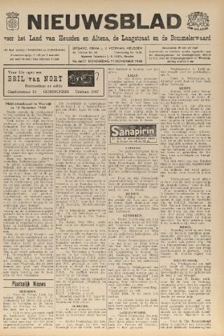 Nieuwsblad het land van Heusden en Altena de Langstraat en de Bommelerwaard 1948-11-11