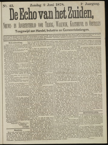 Echo van het Zuiden 1878-06-02