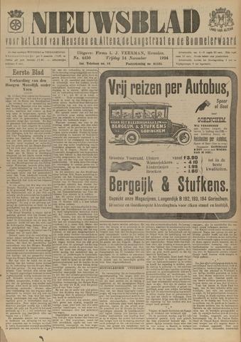 Nieuwsblad het land van Heusden en Altena de Langstraat en de Bommelerwaard 1924-11-14