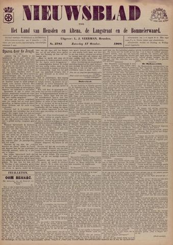 Nieuwsblad het land van Heusden en Altena de Langstraat en de Bommelerwaard 1908-10-17