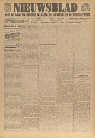 Nieuwsblad het land van Heusden en Altena de Langstraat en de Bommelerwaard 1934-02-21