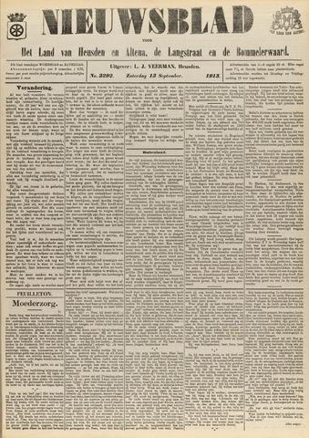 Nieuwsblad het land van Heusden en Altena de Langstraat en de Bommelerwaard 1913-09-13