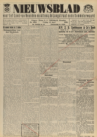 Nieuwsblad het land van Heusden en Altena de Langstraat en de Bommelerwaard 1929-04-12