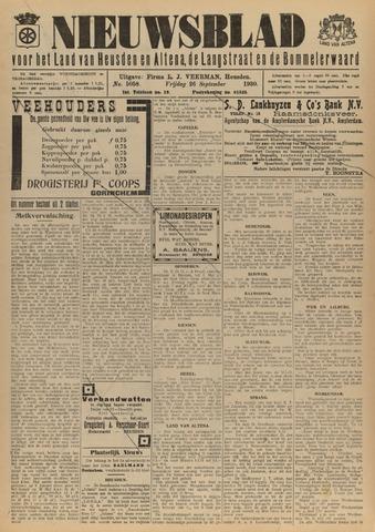 Nieuwsblad het land van Heusden en Altena de Langstraat en de Bommelerwaard 1930-09-26