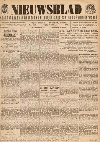 Nieuwsblad het land van Heusden en Altena de Langstraat en de Bommelerwaard 1925-10-09