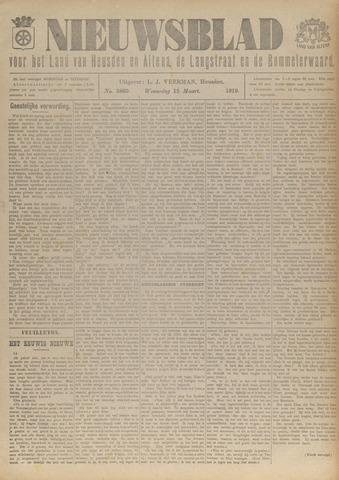 Nieuwsblad het land van Heusden en Altena de Langstraat en de Bommelerwaard 1919-03-12