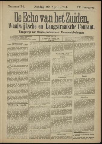 Echo van het Zuiden 1894-04-29
