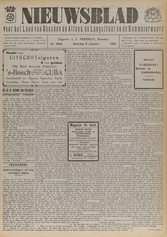 Nieuwsblad het land van Heusden en Altena de Langstraat en de Bommelerwaard 1920-01-03