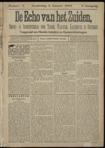 Echo van het Zuiden 1882-01-05