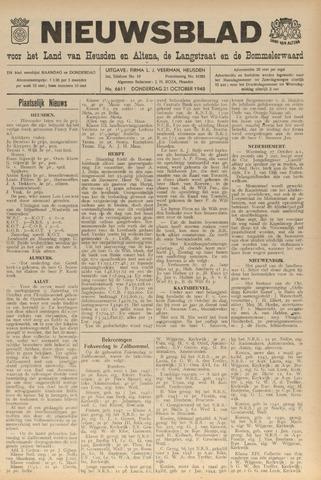 Nieuwsblad het land van Heusden en Altena de Langstraat en de Bommelerwaard 1948-10-21