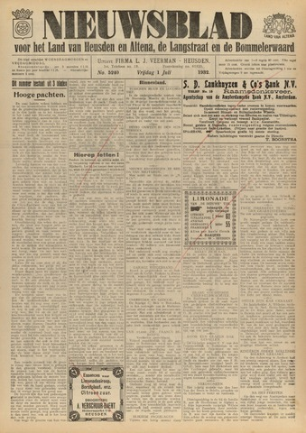 Nieuwsblad het land van Heusden en Altena de Langstraat en de Bommelerwaard 1932-07-01