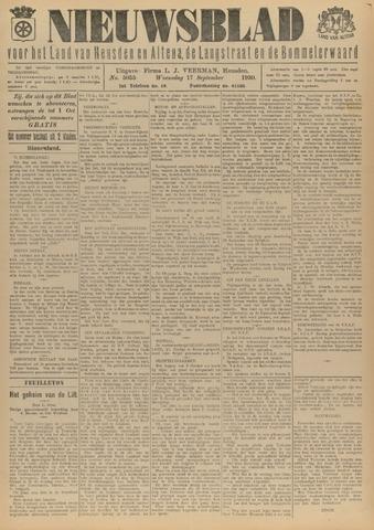 Nieuwsblad het land van Heusden en Altena de Langstraat en de Bommelerwaard 1930-09-17